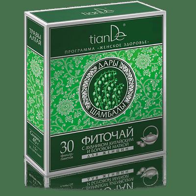 Фиточай с дудником китайским и боровой маткой для женщин, 30 пакетов
