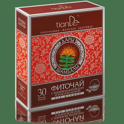 Фиточай с дудником китайским и красной щеткой для женщин, 30 пакетов