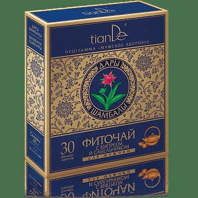 Фиточай с кипреем и сабельником для мужчин, 30 фильтр-пакетов