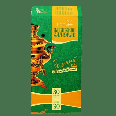 Зеленый чай с красной рябиной, 30 фильтр-пакетов по 1,5 г